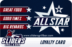 Sliders Grill & Bar Loyalty Card