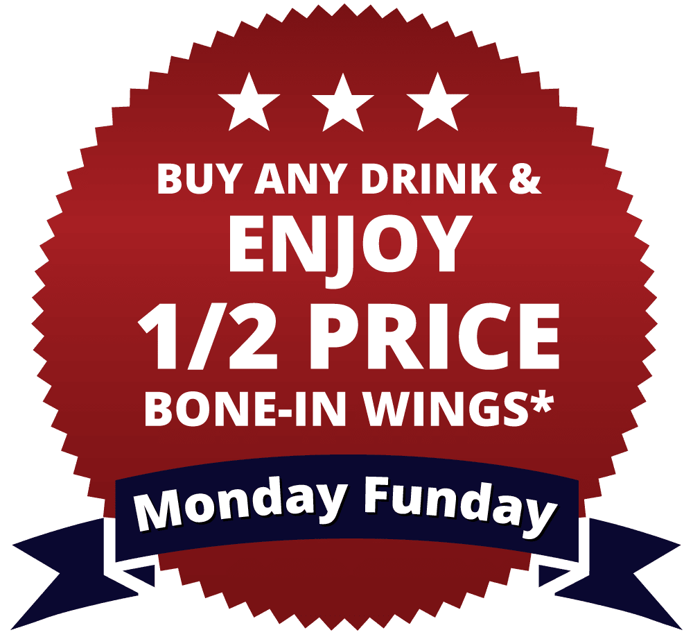 Monday Funday (Half Price Wings)